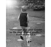"""""""Ecclesiastes 12:1""""  by Carter L. Shepard Photographic Print"""