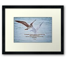 To rest on the wings of God . . . Framed Print