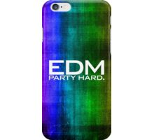 EDM PARTY HARD (COLOURS) iPhone Case/Skin
