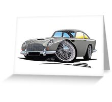 Aston Martin DB5 Grey Greeting Card