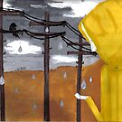the yellow raincoat by Bridgett Ferguson