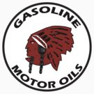 Red Indian Gasoline vintage sign reproduction by htrdesigns