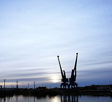 Ipswich Docks in the Winter by Phill Sacre