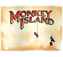 Monkey Island - Treasure found! Poster