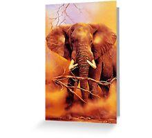 The African bush elephant (Loxodonta africana) Greeting Card