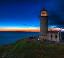 North Head Lighthouse Twilight by Jim Stiles