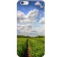 Track through the wheat field iPhone Case/Skin