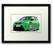 Ford Focus RS (Mk2) Green Framed Print