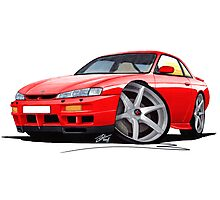 Nissan 200SX S14 Red Photographic Print