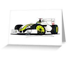 F1 2009 - BrawnGP - Jenson Button Greeting Card