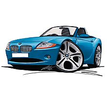 BMW Z4 (E85) Blue Photographic Print