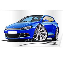 VW Scirocco (Mk3) Blue Poster