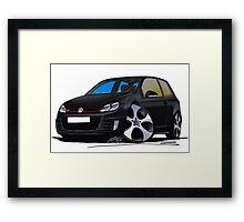 VW Golf GTi (Mk6) Black Framed Print