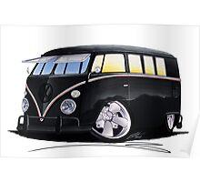 VW Splitty (11 Window) F (Black) Poster