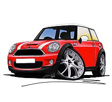 MINI [BMW] (Mk2) Cooper S Red Photographic Print