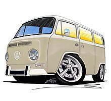 VW Bay Window Camper Van B Cream Photographic Print