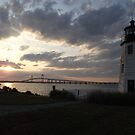 Goat Island Lighthouse by iheartrhody