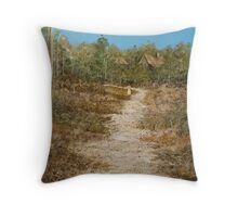 GIRL ON THE TRACK Throw Pillow