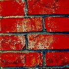 Red Brick iPhone Case by giraffoarts