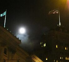 Moon Over Fairmont by David Denny