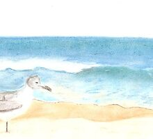 Seagull and the Waves by elizabethtarde