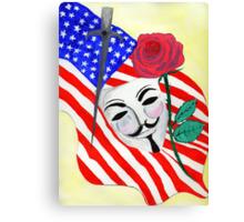 V  the Vendetta against America Canvas Print