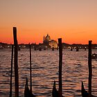 Sunset on Venice - San Giorgio by Alvise Busetto