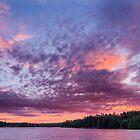 Sunset over Lake Watatic by John Davenport