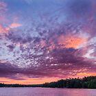 Sunset over Lake Watatic by John Davenport