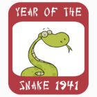 Year of The Snake 1941 T-Shirt by ChineseZodiac