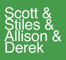 Scott & Stiles & Allison & Derek by jamiesugah