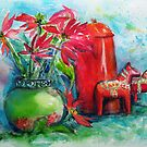 Still life with Poinsettias by Karin Zeller