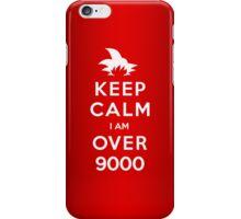 Keep Calm I am Over 9000 iPhone Case/Skin