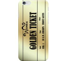 Wonka Golden Ticket iPhone Case/Skin