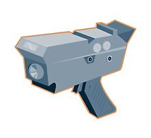 mobile speed camera radar gun retro by retrovectors
