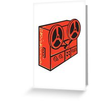 tape recorder reel cassette deck retro Greeting Card