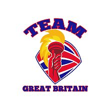 Team Great Britain hand hold flaming torch retro by retrovectors
