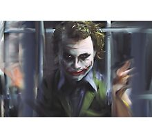 Joker Behind Bars Photographic Print