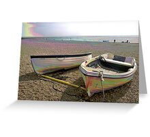 Boats at Rest PEARLISED VERSION Greeting Card