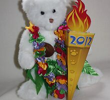 Teddy with Olympic Flame by AnnDixon