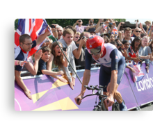 Bradley Wiggins - Gold in Mens Individual Time Trial - London 2012 Canvas Print