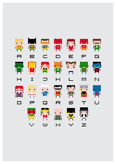Superhero Alphabet by Sergei Vozika