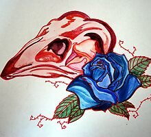 Bird Skull Tattoo design by grostique