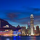 Hong Kong skyline at night by kawing921
