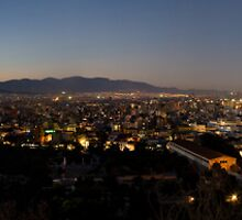 Athens panorama at dusk by Revenant
