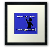 When I Get Down... Framed Print