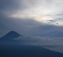 Volcan de Agua seen from Volcan Pacaya by Marie Anne Hale