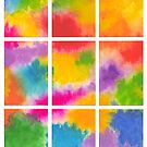ABSTRACT ARTWORK INTO 9 PARTS by RainbowArt