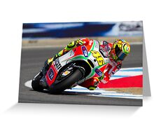 Valentino Rossi at laguna seca 2012 Greeting Card