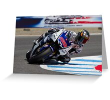Jorge Lorenzo at laguna seca 2012 Greeting Card